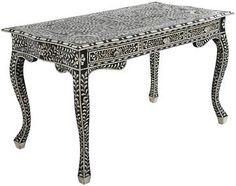 Paloma Desk made from bone inlay