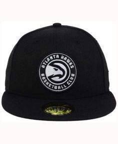 New Era Atlanta Hawks Black White 59FIFTY Cap - Black 7 1/8