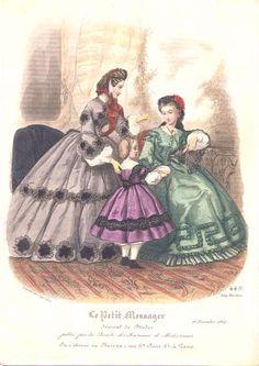 Fashion plate, 1862 France, Le Petit Messager