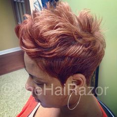 Make a statement with your hair... #TheHaiRazor #shorthair #haircuts #thecutlife #atlantahair #atlhairstylist #haircuts #pixie #pixiecut #nothingbutpixies #shorthaircuts #thrflip