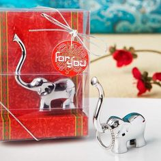 Silver Good Luck Elephant Ring And Jewellery Holder