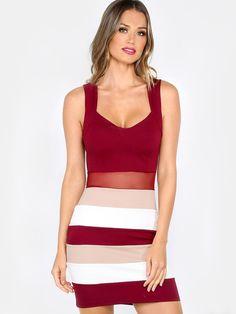 6dcdf70984e Brand Designer  Makemechic Dress Silhouette  Bodycon Boho Neckline  V-Neck  Embellishments  Colorblocking Cutout Mesh