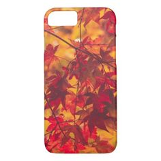 Autumn Color Reds Leaves Nature iPhone 8/7 Case  $32.95  by melissaisms  - cyo diy customize personalize unique