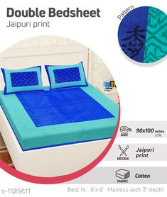 Checkout this latest Bedsheets_500-1000 Product Name: *Comfy Pure Cotton Double Bedsheet* Fabric: Bedsheet - Cotton   Pillow Covers - Cotton  Dimension: ( L X W ) - Bedsheet - 100 in  X 90 in Pillow Cover - 27 in x 17 in Description: It Has 1 Piece Of Double Bedsheet With 2 Pieces Of Pillow Covers Work: Printed Work Thread Count: 160 Country of Origin: India Easy Returns Available In Case Of Any Issue   Catalog Rating: ★4 (408)  Catalog Name: Supreme Home Comfy Pure Cotton Double Bedsheets CatalogID_170538 C53-SC1101 Code: 883-1329611-447