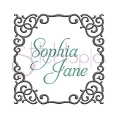 Vine Embroidery Frame - 8 Sizes! | What's New | Machine Embroidery Designs | SWAKembroidery.com Stitchtopia