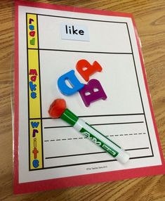 Kindergarten Is Crazy (Fun): Kindergarten Word Building Activities for Literacy Stations! by sonja Kindergarten Language Arts, Kindergarten Writing, Kindergarten Classroom, Classroom Ideas, Reading Activities, Kindergarten Activities, Phonics Activities, Work Activities, Learning Games