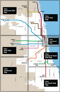 Chicago CTA downtown train map