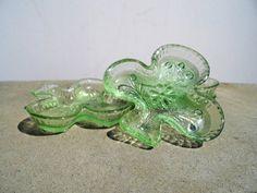Vintage Depression Glass Green Depression by PaperWoodVintage, $19.00