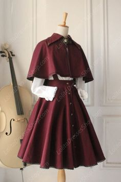 Vintage Gothic Ruffles Big Cardigans Lolita Strap Dresses