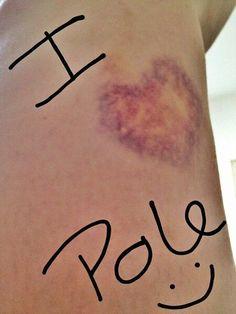 pole kisses :) I use 2 do ballet & gymnastics & now I teach tango, hip hop, salsa, etc and now pole dance. Aerial Dance, Aerial Hoop, Aerial Arts, Pole Dance, Pole Dancing Fitness, Pole Fitness, Fitness Blogs, Dance Flexibility Stretches, Pole Moves