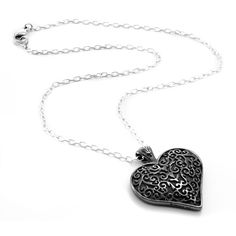I found 'LATTICE Black Titanium Heart Necklace by Edward Mirell' on Wish, check it out!