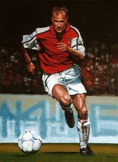 'Dennis Bergkamp painting' by Paul Meijering on artflakes.com as poster or art print $20.79