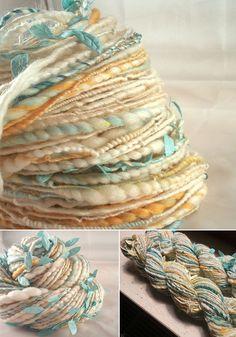 Monday Favorites ! / アートな手紡ぎ糸「アートヤーン」が今熱い!|賃貸マンションで海外インテリア風を目指すDIY・ハンドメイドブログ<paulballe ポールボール>