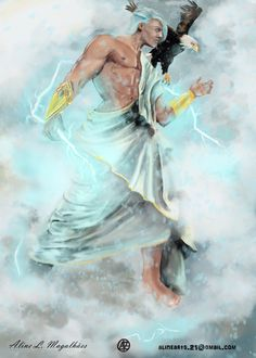 Zeus from Greek Mythology by Aline Magalhaes