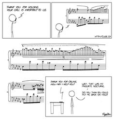 Music cartoon- sadly normal hold music not this good! Music Jokes, Music Humor, Funny Music, Good Music, My Music, Music Stuff, Music Class, Music Items, Music School