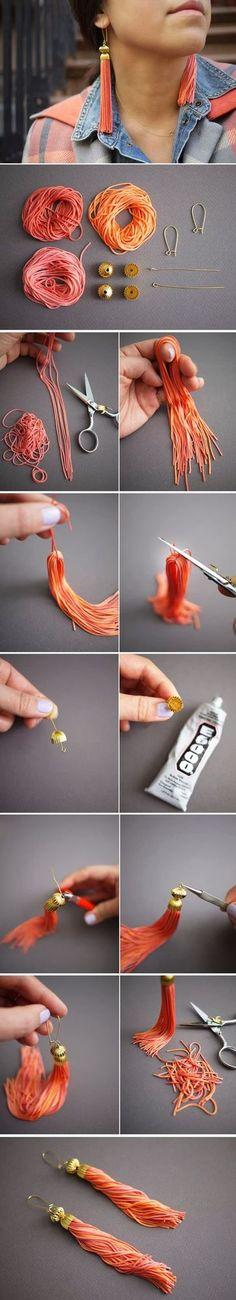 DIY : Tassel Earrings | My-FavThings | Bloglovin'
