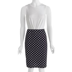Cute skirt....Alexis Taylor Woven Zipper Back Polka Dot Dress #fittingroomspring ♡