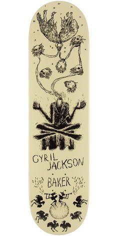 """Baker Cyril Folk Goth Skateboard Deck - 8.0"""""""