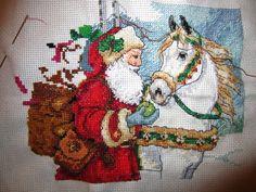 santa counted cross-stitch