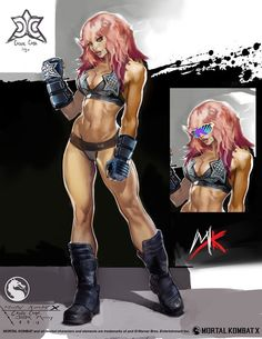 "Exklusive Mortal Kombat X "" Konzept-Kunst von Justin Murray Female Character Design, Character Design Inspiration, Character Concept, Character Art, Fantasy Female Warrior, Fantasy Girl, Female Art, Mortal Kombat, Harey Quinn"