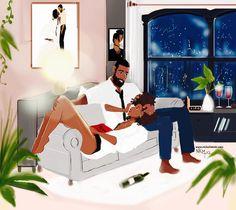 5 Top African Fashions for Men – Designer Fashion Tips Black Couple Art, Black Girl Art, Art Girl, African American Art, African Art, Books And Tea, Bd Art, Natural Hair Art, Black Art Pictures