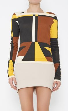 Proenza Schouler Brown, Yellow And Multicolor Sweater | VAUNTE