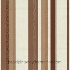 Papel pintado cuerdas y rayas en relieve tonos grises for Papel pintado tonos marrones
