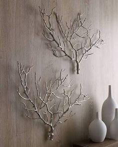 decoração com galhos