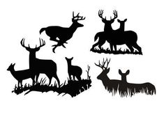 Deer Doe Silhouette SVG, DXF and EPS vinyl cut Files, for Cameo and Cricut Explore machines Deer Head Silhouette, Silhouette Cutter, Silhouette Machine, Deer Stencil, Stencils, Animal Templates, Wood Pallet Signs, Christmas Drawing, Vinyl Crafts