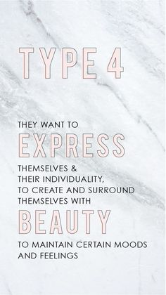 Ennegram type 4! The individualist! Text this test to help you be a more productive business owner. Understanding yourself and your business will help you be more successful in running you biz and keeping your clients happy. If you are looking to be more