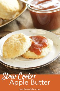 This Slow Cooker Apple Butter recipe only calls for 6 ingredients and is made in the crock pot so it's super easy and has all the great flavors of fall you'd expect! Slow Cooker Apples, Slow Cooker Recipes, Crockpot Recipes, Cooking Recipes, Copycat Recipes, Apple Recipes, Fall Recipes, Quick Recipes, Egg Recipes