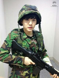 Suga dressed as a military officer!