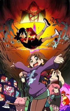 аниме,Аниме арт,Kill la Kill,круши кромсай,Gravity Falls,фэндомы,Гравити Фолз,кроссовер,crossover,Matoi Ryuuko,Kiryuuin Satsuki,GF Арт,GF art,Mankanshoku Mako,Senketsu,Jakuzure Nonon