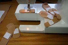 Felt bandages, for stuffed animals and dolls!  :)
