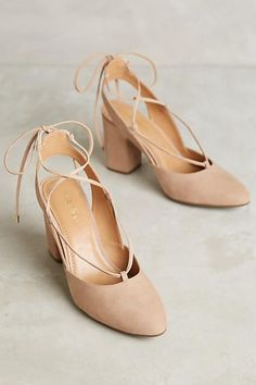 Klub Nico Ruby Lace-Up Heels - anthropologie.com