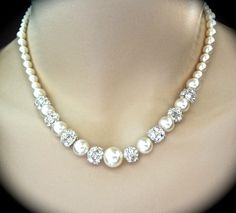 Bridal Jewelry Pearl set Sterling by QueenMeJewelryLLC on Etsy