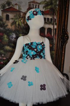 Special Occasion Dress Ivory Tutu Dress by SweetiekinsBoutique