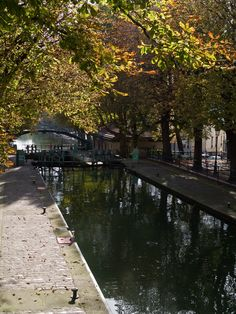 Canal St Martin, Paris 10th arrondissement. Great place to stroll, go for a jog, or relax in a café.  photo: Myrabella
