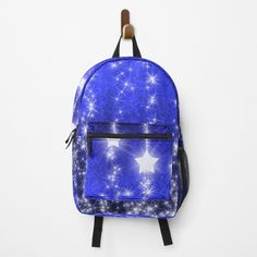 Falling Stars, Fashion Backpack, Clutches, Traveling By Yourself, Print Design, Backpacks, Printed, Awesome, Blue
