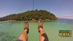 Kota Kinabalu Coral Flyer Zipline between Islands - SabahBah.com