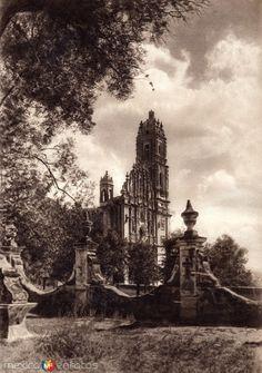 Fotos de Tepotzotlán, México, México: Iglesia de Tepotzotlán (circa 1920)