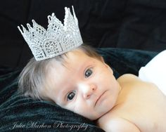 Silver Lace Crown, Silver Crown, Lace Crown, Holiday Crown, Birthday Crown, Silver Lace, Newborn Crown, Photo Prop Crown #etsymntt #halloweencostumes