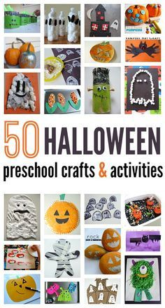 50 Halloween craft ideas for preschool.