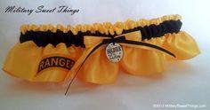 Army Ranger Yellow Gold & Black Satin by MilitarySweetThings, Ranger wife, Army Ranger wedding, Ranger Tab