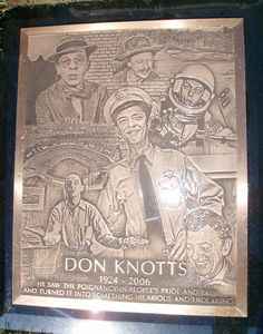 """Don Knotts (1924 - 2006) Played Deputy Barney Fife on the TV series """"The Andy Griffith Show"""" and Mr. Furley on the series """"Three's Company"""", starred in """"The Incredible Mr. Limpet"""", """"The Apple Dumpling Gang"""" and other movies"""