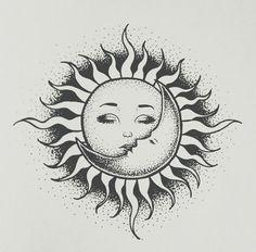 Sun and moon картинки tatuajes de sol, tatuajes de luna и tatuajes pequeños Nature Tattoos, Body Art Tattoos, Tattoo Drawings, Small Tattoos, Art Drawings, Tatoos, Sleeve Tattoos, Sun And Moon Drawings, Sun Drawing