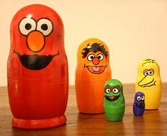 Sesame Street Nesting Dolls