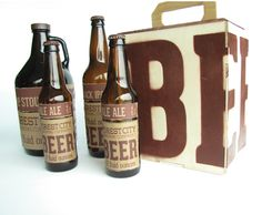 Beer Packaging: Forest City Brewing Company by Jake Hatmaker, via Behance