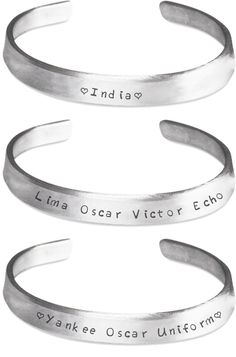 I Love You (Military Code) - Three Stackable Bracelets