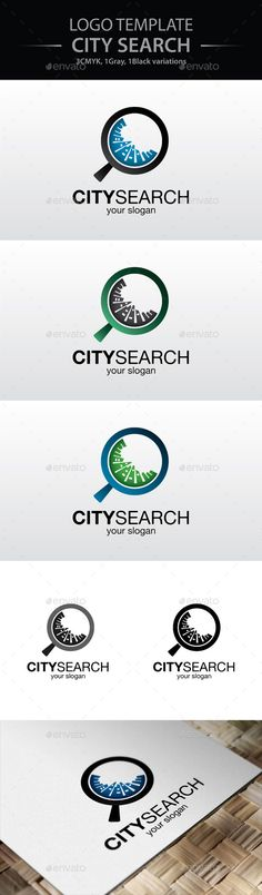City Search Logo — Transparent PNG #magnifier #town • Available here → https://graphicriver.net/item/city-search-logo/9069619?ref=pxcr